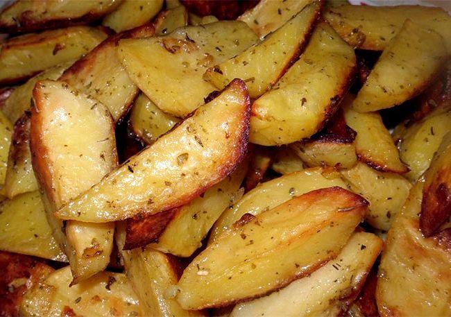 Картофель запеченный в духовке дольками рецепт с фото