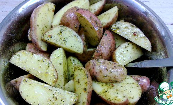 Картошка по селянски в духовке рецепт с фото