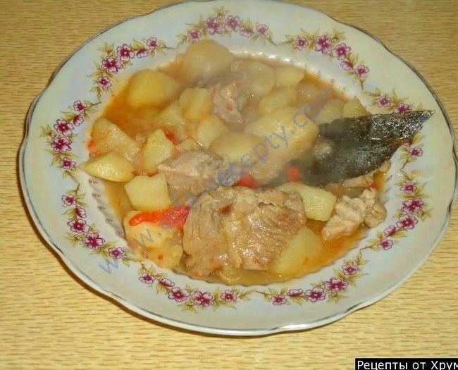Картошка с мясом тушеная в кастрюле рецепт с фото пошагово