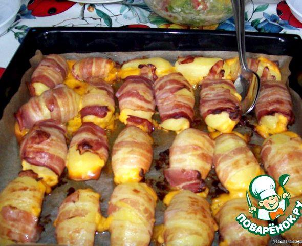 Картошка в беконе в духовке рецепт с фото