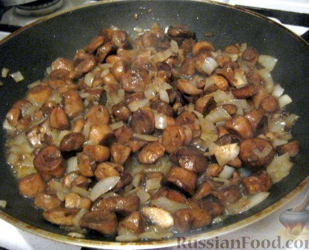 Картошка в духовке рецепт с фото с мясом и грибами