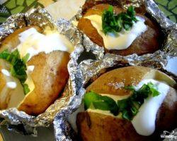 Картошка в духовке рецепт с фото в фольге