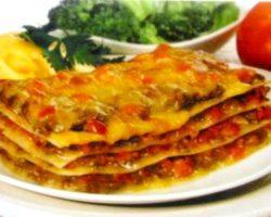 Классический рецепт лазанья с фаршем