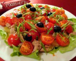 Классический салат из тунца консервированного рецепт