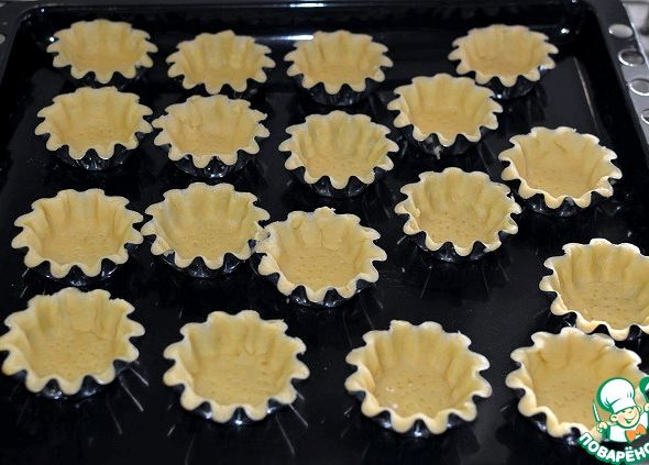 Корзиночки из песочного теста с белковым кремом рецепт с фото