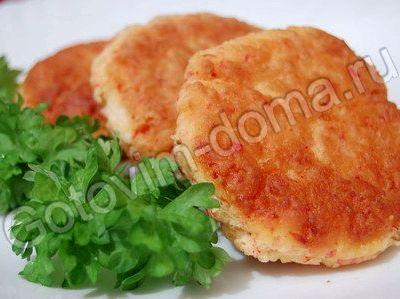 Котлеты из крабовых палочек с сыром рецепт с фото