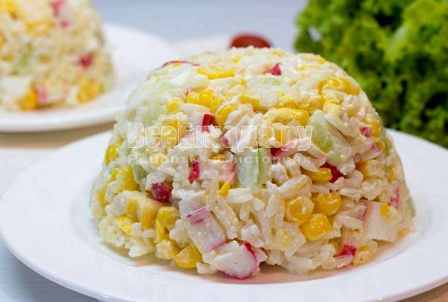 Как сделать крабовый салат рецепт фото 66