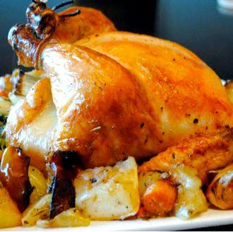 Курица целиком запеченная в духовке рецепт с фото