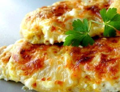 Курица с сыром и ананасом в духовке рецепт с фото