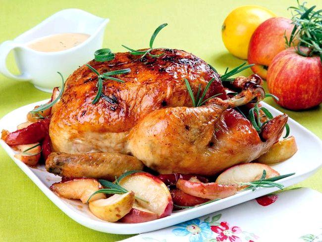 Курица в духовке с горчицей и медом рецепт с фото