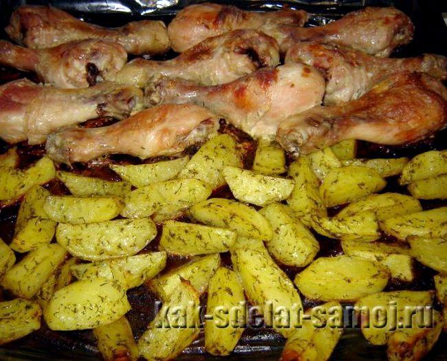 Курица в духовке с картошкой в фольге рецепт с фото