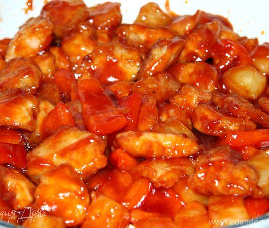Курица в кисло сладком соусе по-китайски рецепт с фото