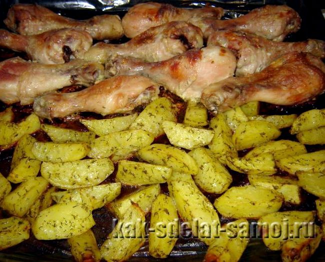 Куриные ножки в фольге в духовке рецепт с фото