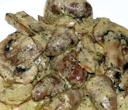 Куриные сердечки рецепт со сметаной