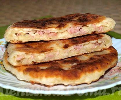 Лепёшки с сыром на кефире рецепт с фото