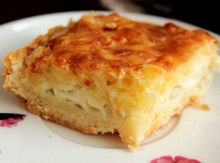 Луковый пирог рецепт с фото простой рецепт