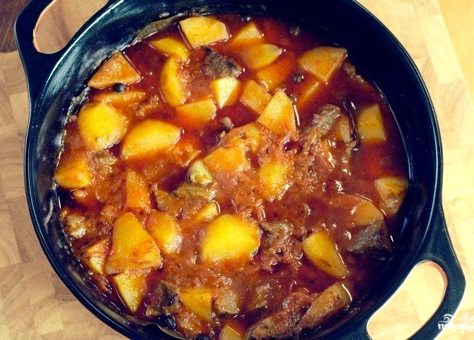Мясо в казане с картошкой рецепт с фото