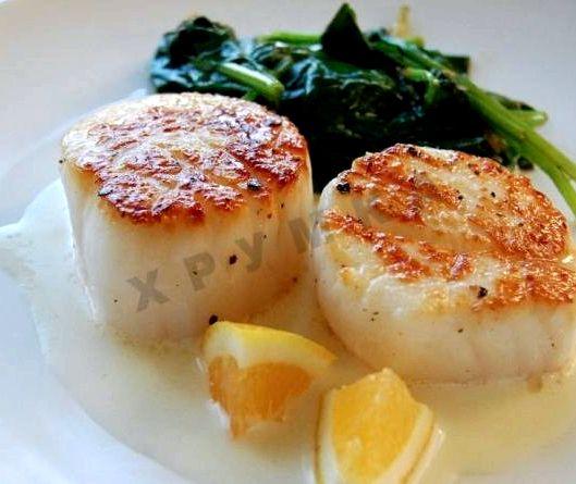 Морские гребешки рецепт приготовления с фото