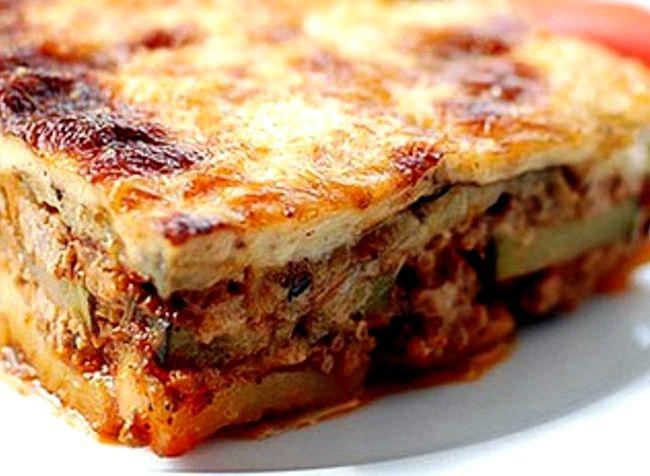 Мусака по гречески с баклажанами рецепт с фото