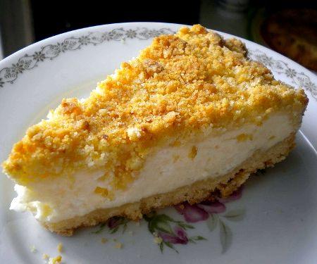 Насыпной пирог с творогом рецепт с фото