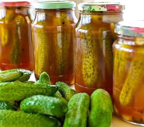 Огурцы с кетчупом чили на зиму в литровых банках рецепт