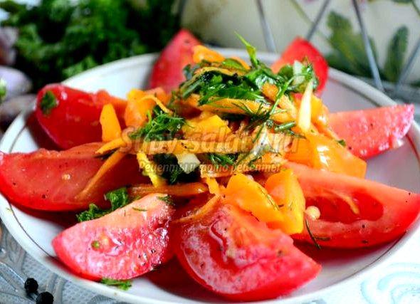 Острая закуска помидоры по-корейски рецепт с пошаговыми фото