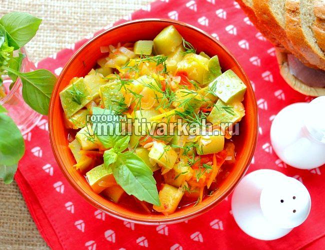 Овощное рагу рецепт с кабачками в мультиварке