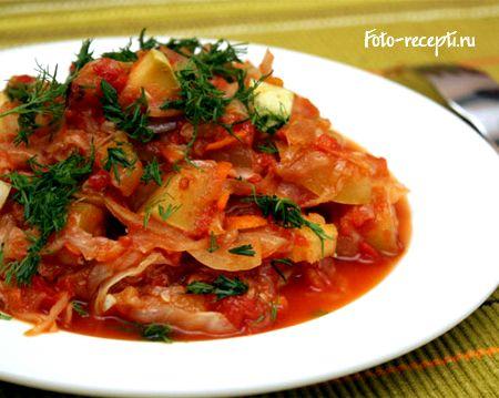 Овощное рагу рецепт с капустой и картошкой и кабачками и мясом