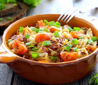 Овощное рагу с баклажанами и кабачками и картошкой рецепт с фото