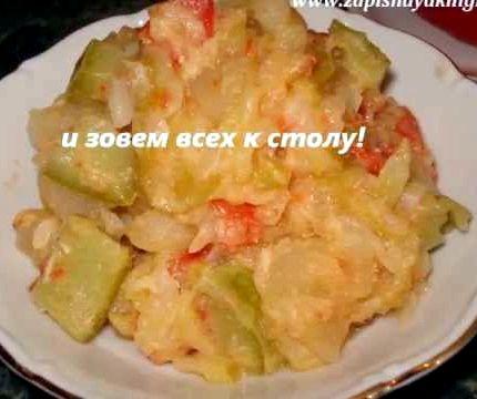 Овощное рагу с кабачками и картошкой и курицей рецепт с фото