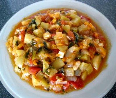Овощное рагу с курицей с кабачками и картошкой рецепт с фото