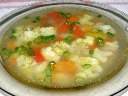 Овощной суп рецепт с цветной капустой