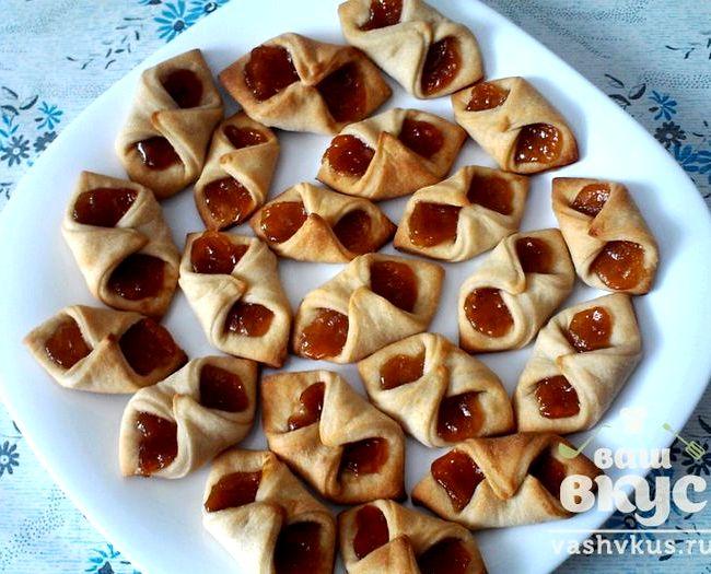 Печенье с повидлом минутка рецепт с фото