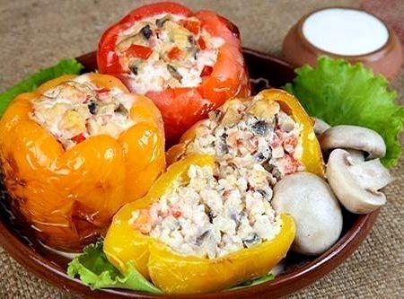 Перец фаршированный овощами рецепт с фото