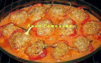 Перец фаршированный в духовке рецепт