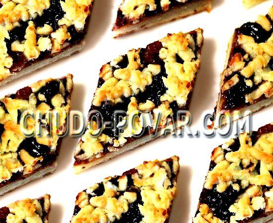 Песочное печенье с вареньем рецепт с фото