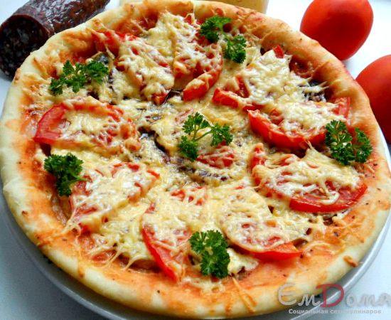 Пицца с колбасой в домашних условиях рецепт