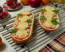 Пицца в батоне в духовке рецепт с фото