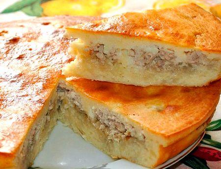 Пирог на кефире в духовке рецепт с фото