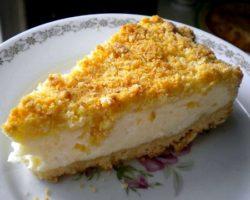Пирог насыпной с творогом рецепт с фото