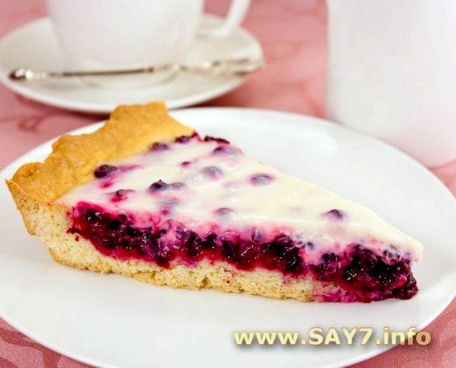 Пирог с брусникой рецепт с пошаговым фото