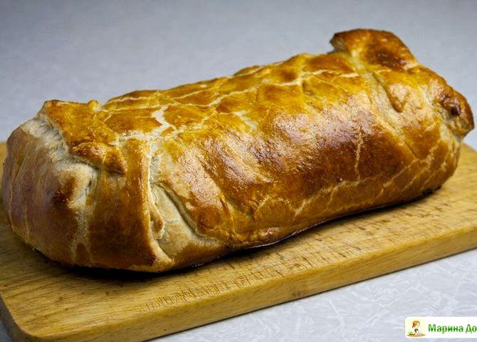 Пирог с фаршем в духовке рецепт с фото пошаговый