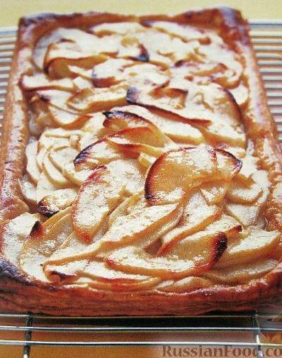 Пирог с яблоками открытый рецепт с фото пошагово в духовке