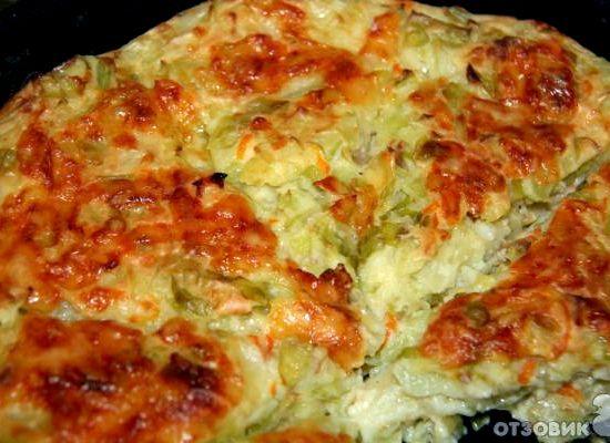 Пирог с капусты в духовке рецепт с фото