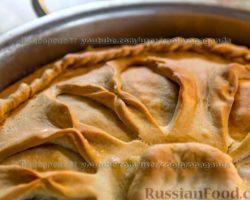 Пирог с картошкой и мясом татарский рецепт с фото