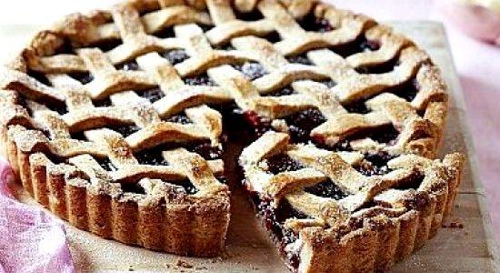 Пирог с малиновым вареньем рецепт с фото
