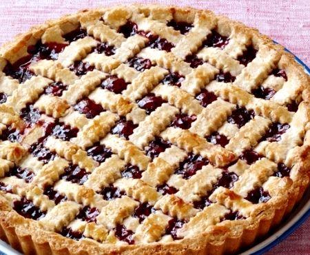 Пирог с вареньем открытый рецепт с фото