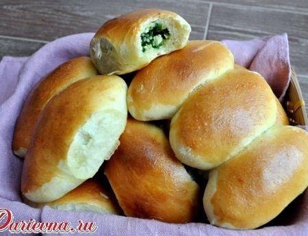 Пирожки с луком и яйцом в духовке рецепт