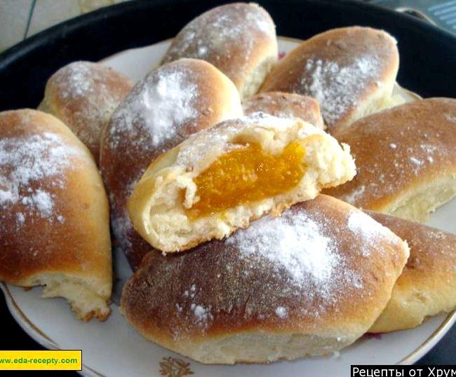 Пирожки в духовке сладкие рецепт с фото