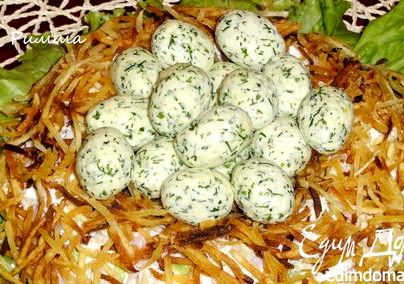 Пошаговый рецепт гнездо глухаря салат
